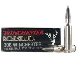 Winchester Supreme Ammunition 308 Winchester 168 Grain Ballistic Silvertip