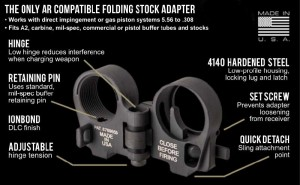 Law Tactical AR15 Folding Stock Adapter GEN 3-M www.308ar.com