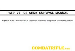 FM21-76 US ARMY SURVIVAL MANUAL