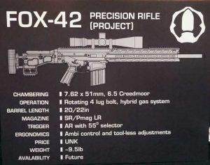 Video of KRG FOX-42 762 Modular Rifle Prototype. Magpul Massoud