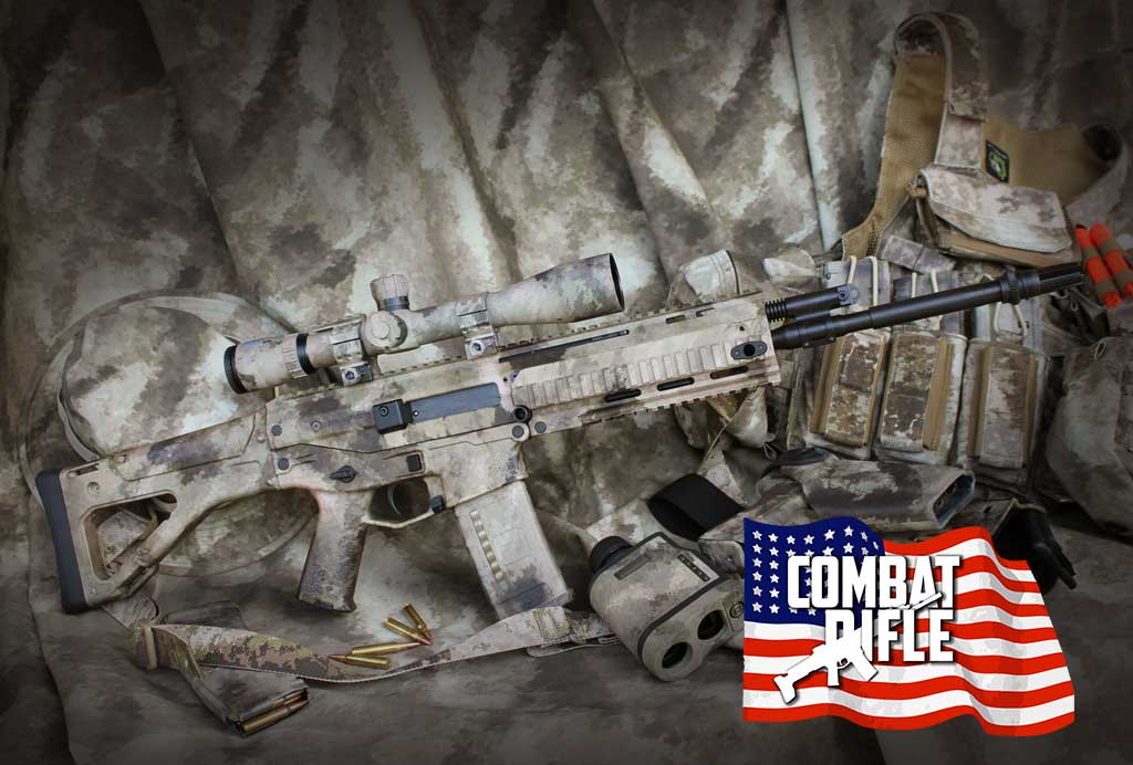 PICTURE OF A REMINGTON ACR with ATACS CAMO