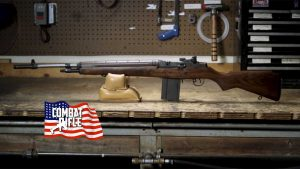 Picture of a Springfield Armory M1A Rifle with a Wood Stock