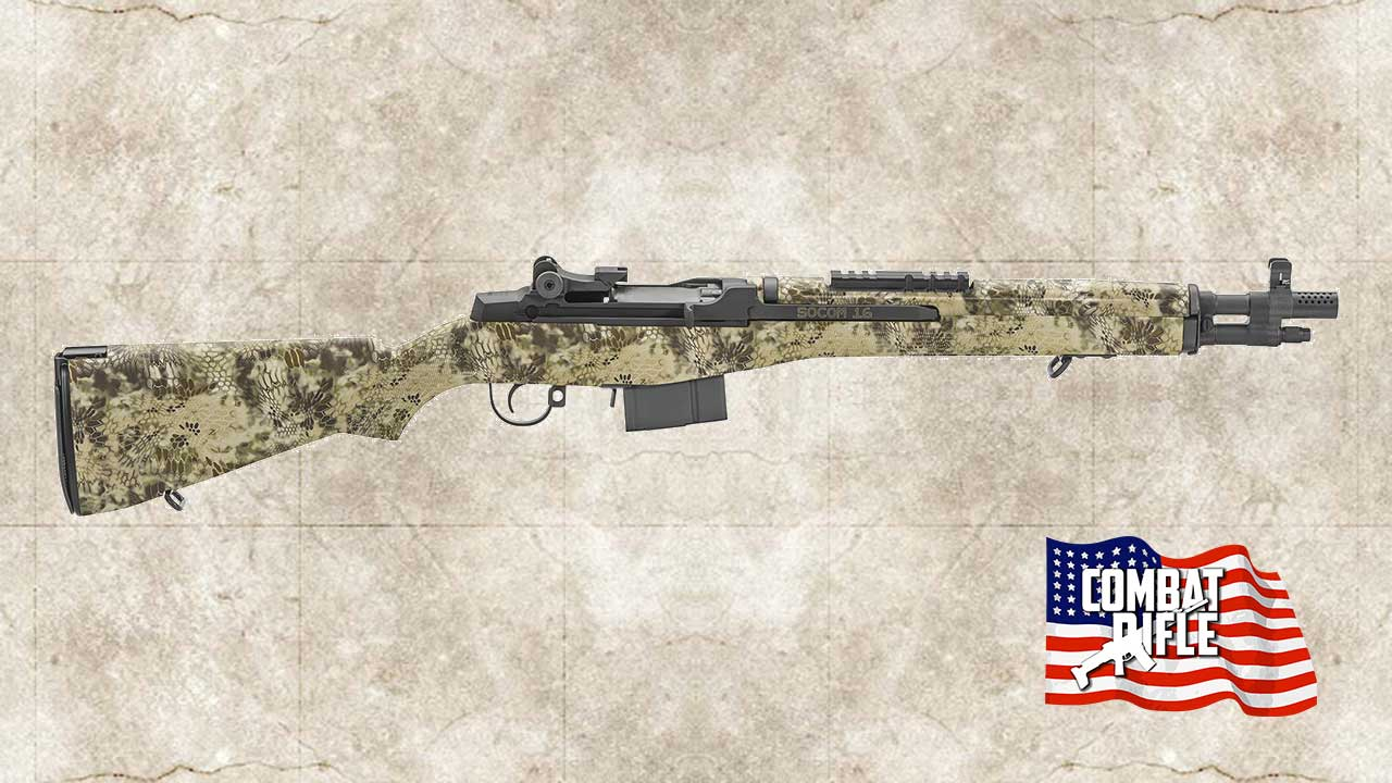 Picture of a Springfield Armory M1A Socom .308 Win Kryptek Highlander Rifle AA9613